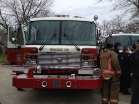 New fire pumper