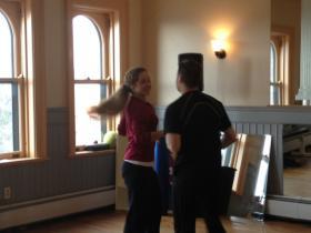 Dave Smith & Lihann Jones practice swing dance