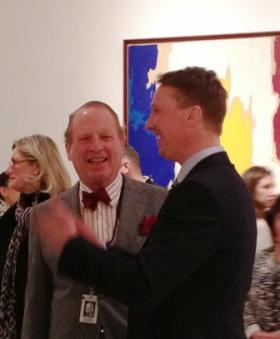 Janne Sirén (right) mingles during his introduction as the new director of the Albright-Knox Art Gallery