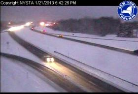 I-90 Monday night at Exit 57