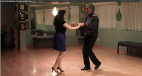 Joel Giambra taking his ballroom lesson