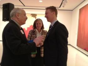 New Albright-Knox leader chats Janne Sirén (right) appears at Gallery