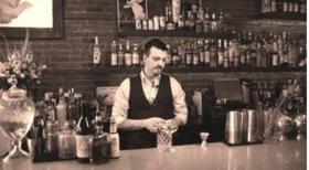 Vera Bar Manager Jon Karel prepares a Manhattan