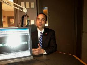 Sergio Rodriguez in WBFO studio
