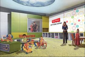 An artist rendering of the new center.