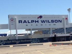 Outside Ralph Wilson Stadium, Orchard Park, NY