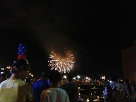 Fireworks at Buffalo's Canalside Thursday night.