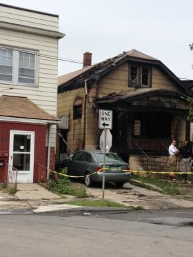 Scene of fatal fire on Riverside Avenue, Buffalo, NY