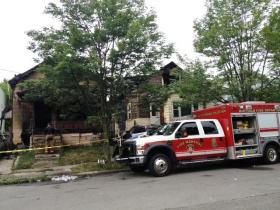 Scene of fatal fire on Riverside Avenue