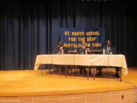 Mayor Byron Brown and challengers Sergio Rodriguez and Bernie Tolbert debated the issues Thursday night.