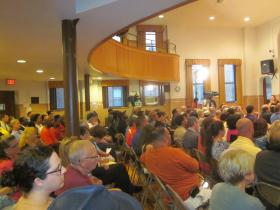 The Mayoral debate drew a large crowd to Saint Mary's School for the Deaf.