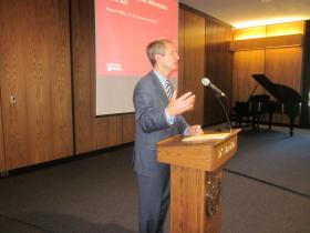 Assemblyman Sean Ryan sponsored the public meeting at D'Youville College.