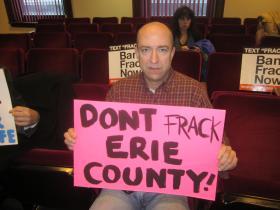 Anti-frack protestors in Legislature chambers.