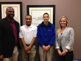 Dr. Javon Hunter, Edward White, Anthony Carrero, and Heidie Caraway.