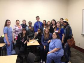 Students who took Ray Marks's public speaking class at Medaille 2013 Fall semester have rallied around their teacher.