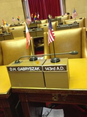 Assemblyman Dennis Garbyszak's Assembly seat in Albany.