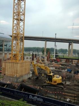 HARBORcenter construction in full swing.