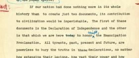Part of 1962 MLK speech