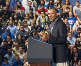 President Obama at UB.