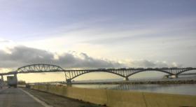 Buffalo's Peace Bridge from the I-190.