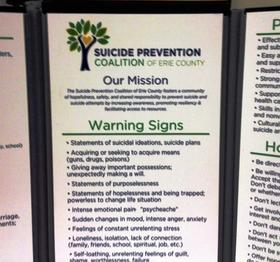 Suicide prevention information.