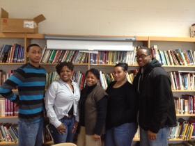 Wilfredo Rosario Jr, CCI Youth Coordinator Brenda Curlee (M), Mariliz Rodriguez & Brandon Wilson.
