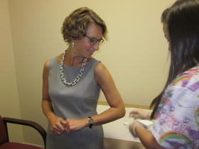 Erie County Health Commissioner Dr. Gale Burstein received her flu shot in the fall.