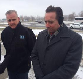 Pericak and Kaminski braved the cold to discuss their plans to keep the area's highways clear of ice and snow.