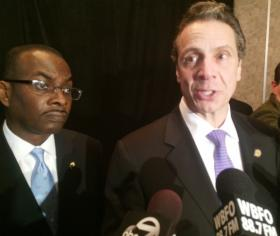 Gov. Andrew Cuomo and Buffalo Mayor Byron Brown talk about the impact a new IBM facility will have on the city.