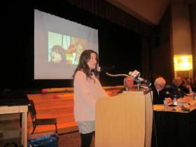 Parents like Laura Hafner gathered at West Seneca East High School Tuesday to talk about Common Core.