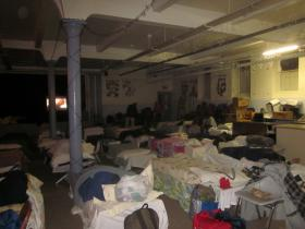 All 50 cots were filled last night at St. Luke's Mission of Mercy.
