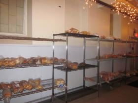 Loaves of bread will be distributed to the homeless.