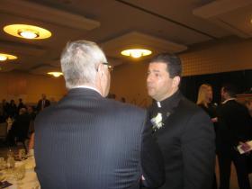 Niagara University James Maher shared his optimistic vision with alumni Wednesday night.