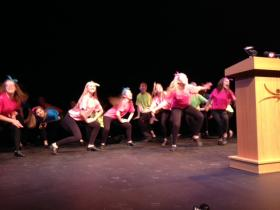 Students from Academy of the Theater Arts kick off Shea's Junior Theater Celebration.