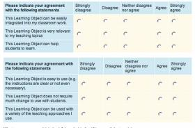Example of teacher evaluation questions.