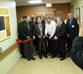 The ribbon cutting for the new Wellness Center, which was dedicated January 30.