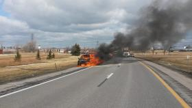 I-190 south vehicle fire.