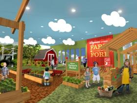 A rendering of the 'From Farm to Fork' area planned at the new Explore & More Children's Museum.