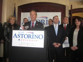 Rob Astorino started his run for governor in Buffalo with a key endorsement from Congressman Chris Collins.