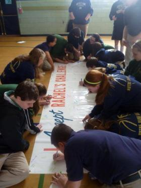 Notre Dame students participate in kindness program.