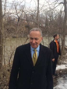Sen. Charles Schumer says action is needed to prevent flooding along Buffalo Creek.