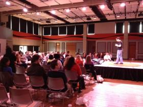 TEDxYouth@Buffalo conference at Buffalo State College.