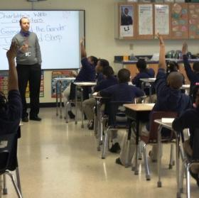 Inside a classroom at COMMUNITY Charter School in 2013.