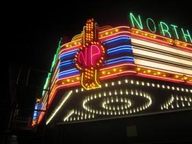 The North Park's 1941 marquee was recently renovated by Buffalo's Flexlume Corporation.