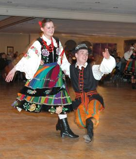 Toronto's White Eagle Dancers will perform on Dyngus Day at the Adam's Mark Hotel.
