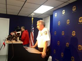 Police Commissioner Daniel Derenda addressed the videotaped incident Monday morning.