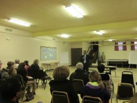 The public hearing at University United Methodist Church was organized by Councilmember Rasheed Wyatt.