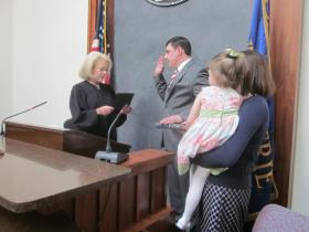 Peter Savage III was sworn in Thursday to the Erie County Legislature as he takes over for Lynn Marinelli.