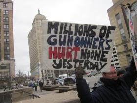 Gun rights advocates rallied in Buffalo Tuesday.