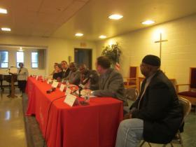 Ten of 15 school board candidates took part in Thursday's debate.
